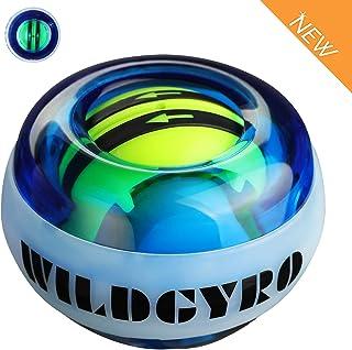 DOTSOG Wrist Trainer Exercises Power Ball Wrist&Forearm Strengthener Essential Push-Start Spinner Gyro Ball with LED Lights for Wrist excreise,No Need Start Pull String