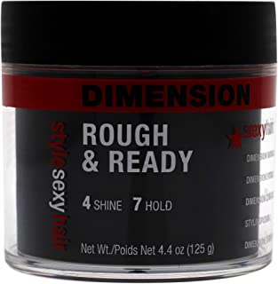 Sexy Hair Style Sexy Hair Rough Ready Dimension with Hold for Men 4.4 oz Pomade