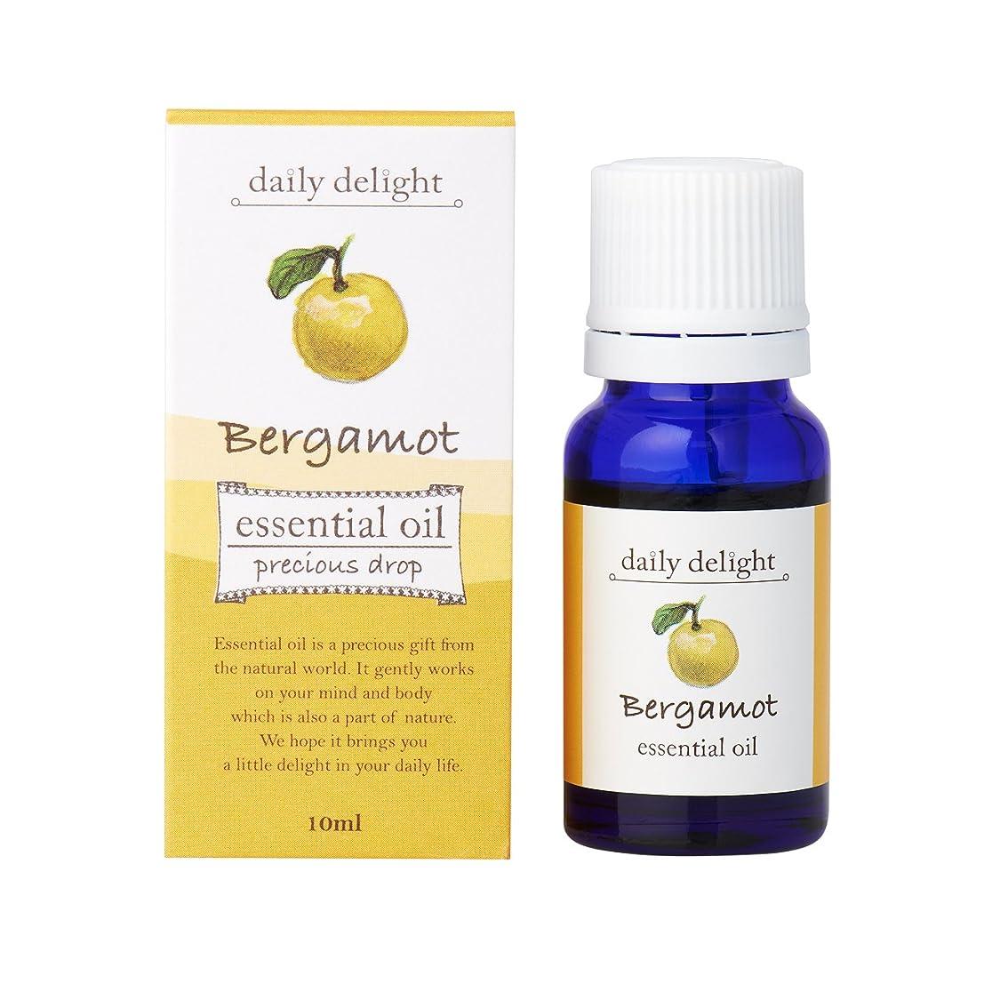 アパル批判素子デイリーディライト エッセンシャルオイル  ベルガモット 10ml(天然100% 精油 アロマ 柑橘系 甘さが少なめでみずみずしく美しい香り)