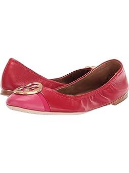 토리버치 미니 발렛 슈즈 Tory Burch Minnie Cap-Toe Ballet,Brilliant Red/Bright Azalea