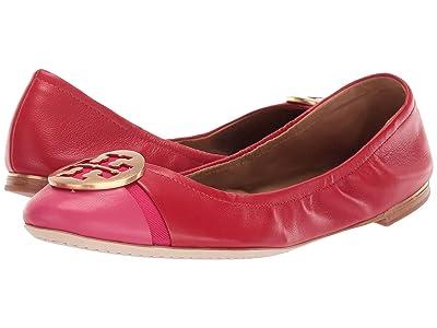 Tory Burch Minnie Cap-Toe Ballet (Brilliant Red/Bright Azalea) Women