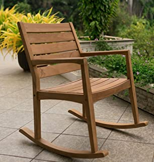 Cambridge-Casual AMZ-130809T Andrea Rocking Chair, Natural Teak