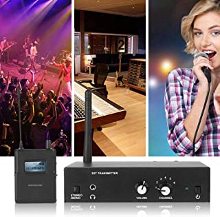 $141 » for ANLEON S2 in Ear Audio Monitor System, Stereo Wirless Monitor System 561-568Mhz, 1 Transmitter, 1 Receiver, Perfect for Stage, Studio, Exhibit, Lecture, Speech (US)