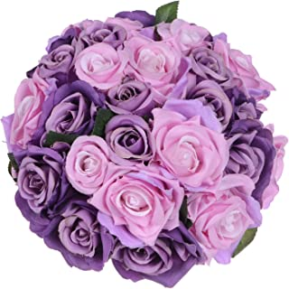 pink and purple rose bouquet