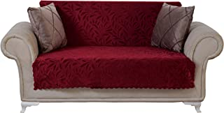 Chiara Rose Couch Covers for Dogs Sofa Cushion Slipcover 3 Seater Furniture Protectors Futon Cover, Loveseat, Acacia Burgundy