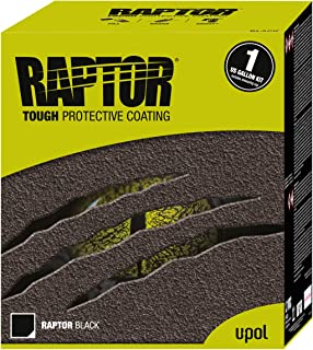 U-Pol Products RAPTOR Black 1.7 Voc Truck Bed Liner Kit - 4 Liter