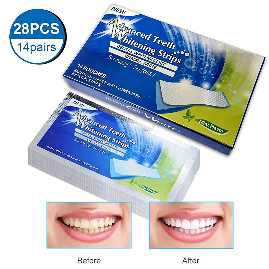 線上昇生き残りOdette ホワイトニング 3D 歯 テープ 自宅 セルフ 歯磨き粉ット 週間で効果を実感 (14セット/28枚) (#02)