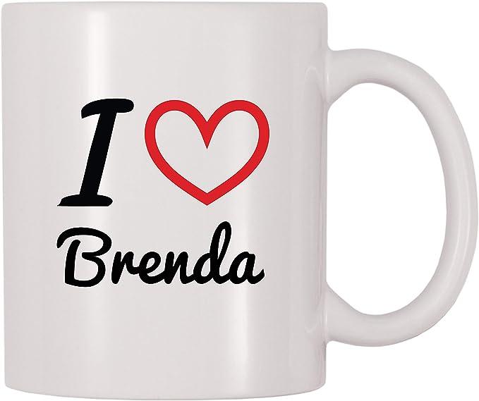 4 All Times I Love Brenda Personalized Name Coffee Mug