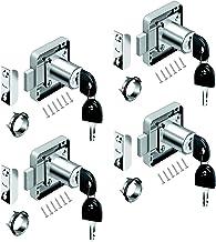 youtu 4 stuks meubelslot cilinder-meubelslot schroefslot slot slot kast set voor laden & kasten | staal vernikkeld | doorn...