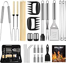 OlarHike BBQ Grill Accessories Set for Men Women, 29PCS Grilling Utensils Tools Set, Stainless Steel BBQ Gift Set with Spa...
