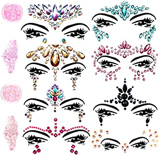 rainbow face jewels