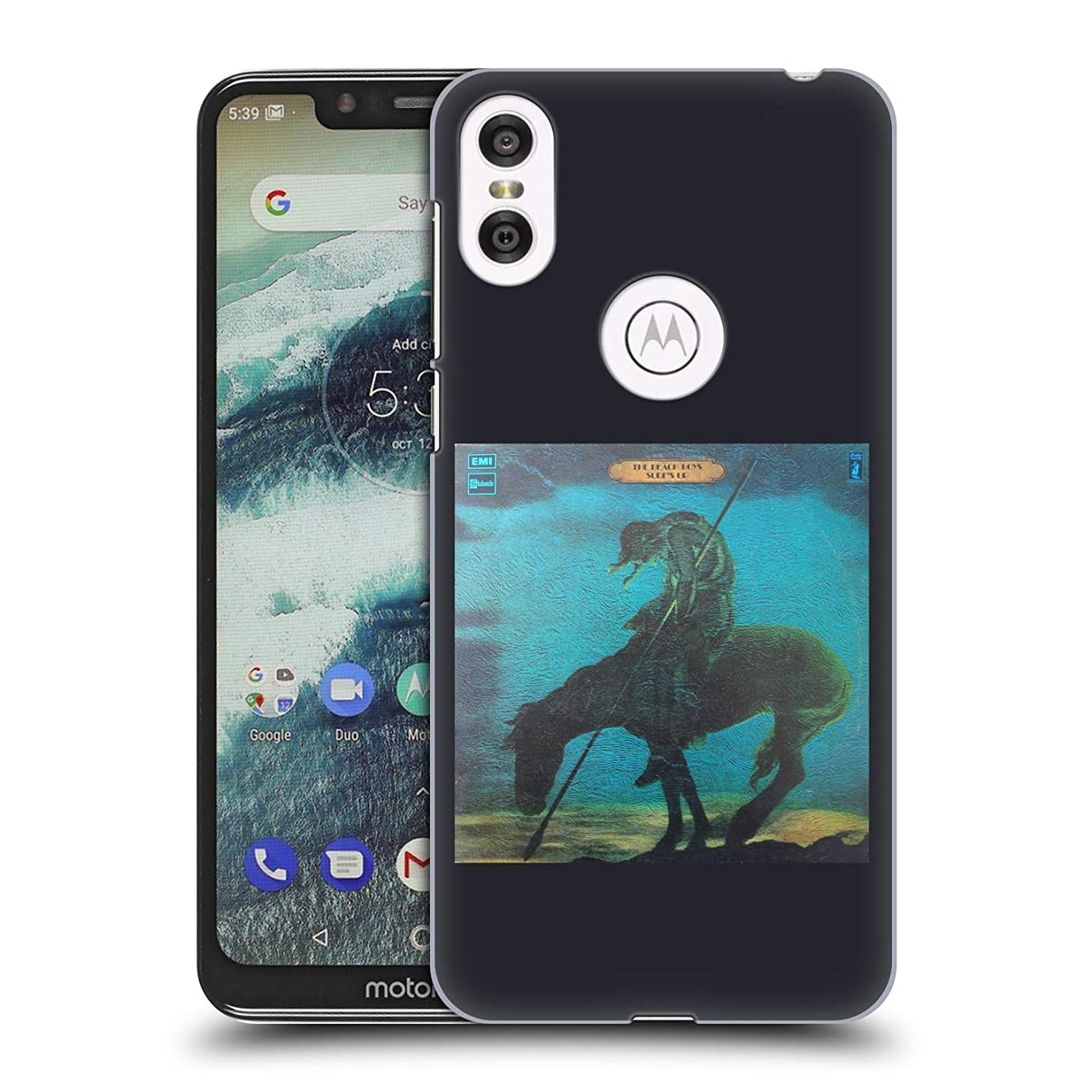 Official The Beach Boys Surfs Up Album Cover Art Hard Back Case Compatible for Motorola One (P30 Play)