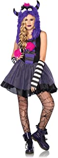 Costumes 3Pc.Punky Dress Arm Warmers Mohawk Monster Hood