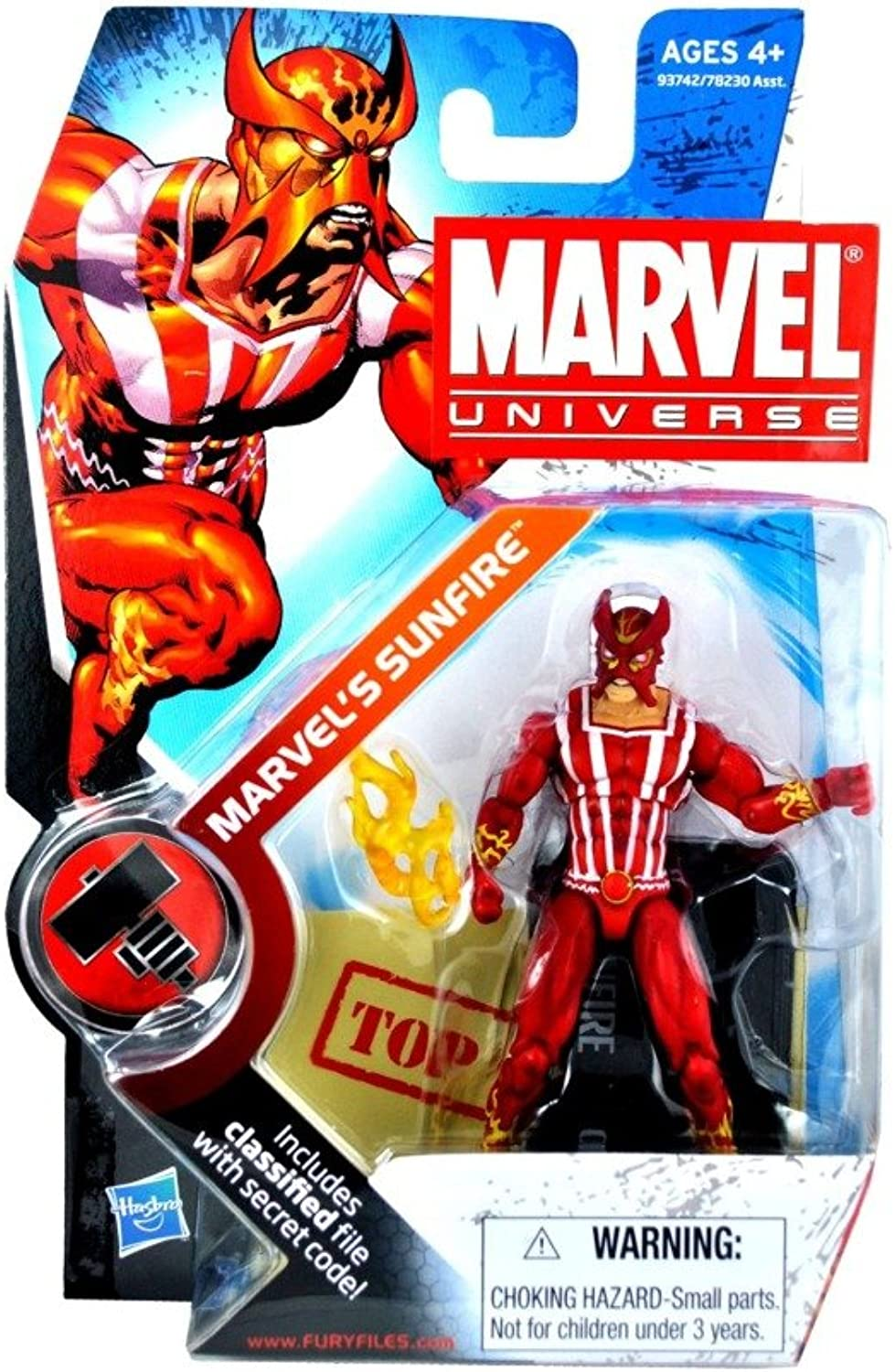 Marvel Universe 3 3 4 Series 6 Action Figure Marvel's Sunfire by Hasbro