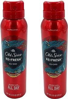 Old Spice Refresh Body Spray, Hawkridge 3.75 oz (Pack of 2)
