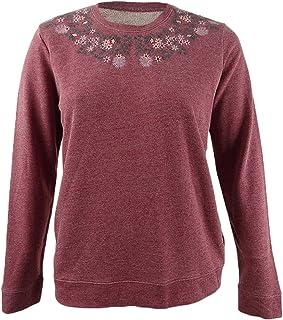 Lucky Brand Womens Unisex-Adult 7W72810 Necklace Embroidered Novelty Sweatshirt Sweatshirt