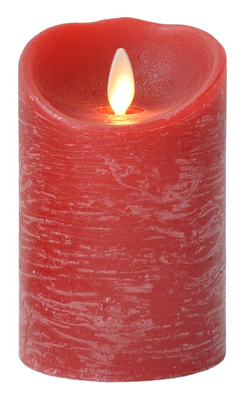 強化する反発温室[現行モデル] LUMINARA Sサイズ ピラーキャンドル レッド シナモンの香り タイマー機能付き LM102-RD 【リモコン対応】 LEDキャンドル|フェイクキャンドル (正規品)