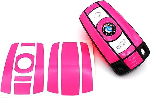 Finest Folia Schlüssel Folie K141 Für 3 Tasten Auto Schlüssel Nur Keyless Go Folien Cover Neon Pink Auto