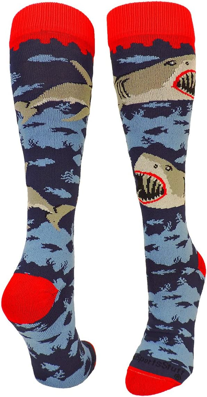 MadSportsStuff Great White Sharks Athletic Over The Calf Socks