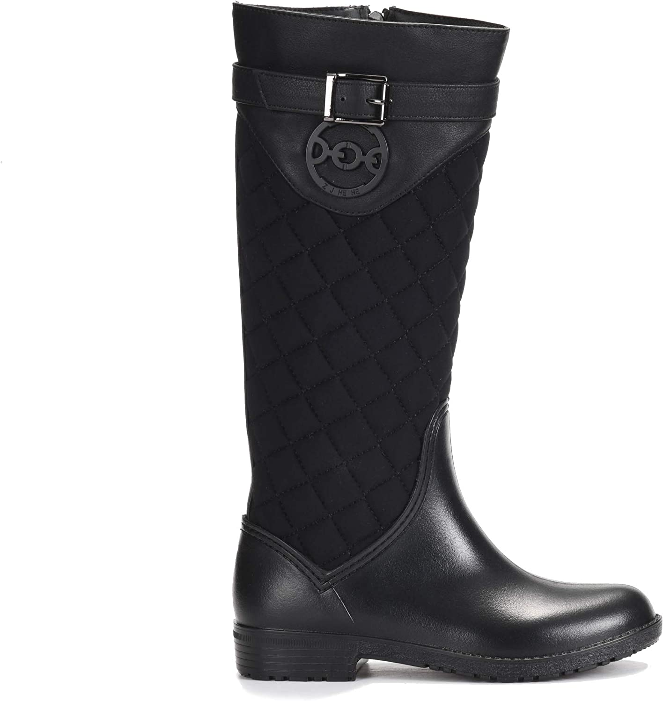 ZJHEHE Rain Boots for Women, Women rain Boots, Rain Boot Waterproof(for Slim People)