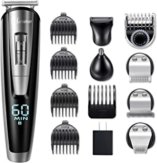 Hatteker Beard Trimmer Kit For Men Cordless Mustache Trimmer Hair Trimmer Groomer Kit Precision Trimmer Nose Hair Trimmer ...
