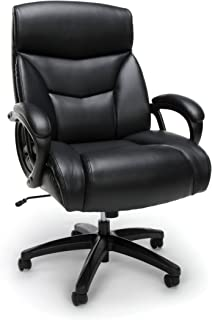 Essentials Big and Tall Leather Executive Chair - High-Back Computer/Office Chair, Black
