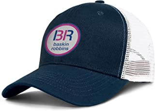 LINXY Unisex Baskin Robbins Logo Baseball Cap Gas Cap Snapbacks Hats Sun Hat Trucker Hat