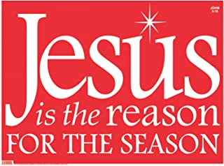 Faithworks 92001UD Christmas yd Sign Decoration, Jesus is the Reason/Red