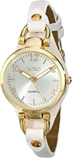 XOXO Womens Quartz Watch, Analog Display and Leather Strap XO3398