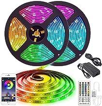 LED Strip Light,10M RGB colorful light strip,remote for Bedroom, Kitchen, Desk, TV, 12V Power Supply UK Plug
