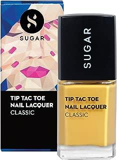 SUGAR Cosmetics Tip Tac Toe Nail Lacquer - 071 Mustard Memory (Mustard Yellow)