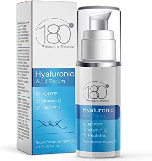 Hyaluronic Acid Serum for Face - Forte Triple Moisturizing Formula with Vitamin C by 180 Cosmetics Beauty is Timeless - Sm...