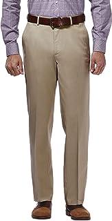 Men's Premium No Iron Khaki Classic Fit Expandable Waist...