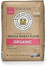 King Arthur Flour, 100% Organic Whole Wheat Flour , 100% Whole Grain, Non-GMO Project Verified, 2 Pounds (Pack of 12) -Pac...