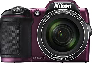 Nikon COOLPIX L840 16.0-Megapixel Digital Camera with 76x dynamic fine zoom, 38X optical zoom VR lens (4.0-152mm) and built-in WiFi - Plum (Renewed)