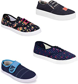 Aura Men Multicolor Canvas Casual Shoes -Combo of 4
