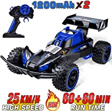 Remote Control Trucks Monster RC Car 2019 Updated 1:16 Scale 2.4Ghz Radio Remote 25Km/h  All Terrain RC Car with Two Rechargeable Batteries Electric Toy Car for All Adults & Kids
