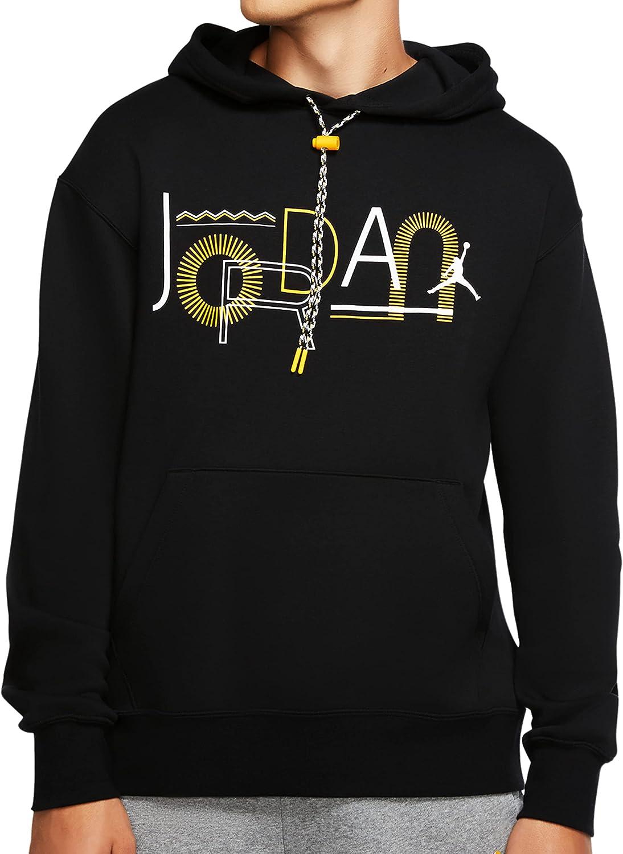 Nike Men's Jordan Legacy 2 Hoodie - Mens Black/Yellow
