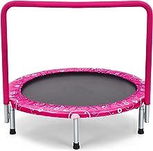 COSTWAY 92 cm Kinderen trampoline, mini trampoline met veiligheid gewatteerde hoes en volledig overdekte handgreep, opvouw...