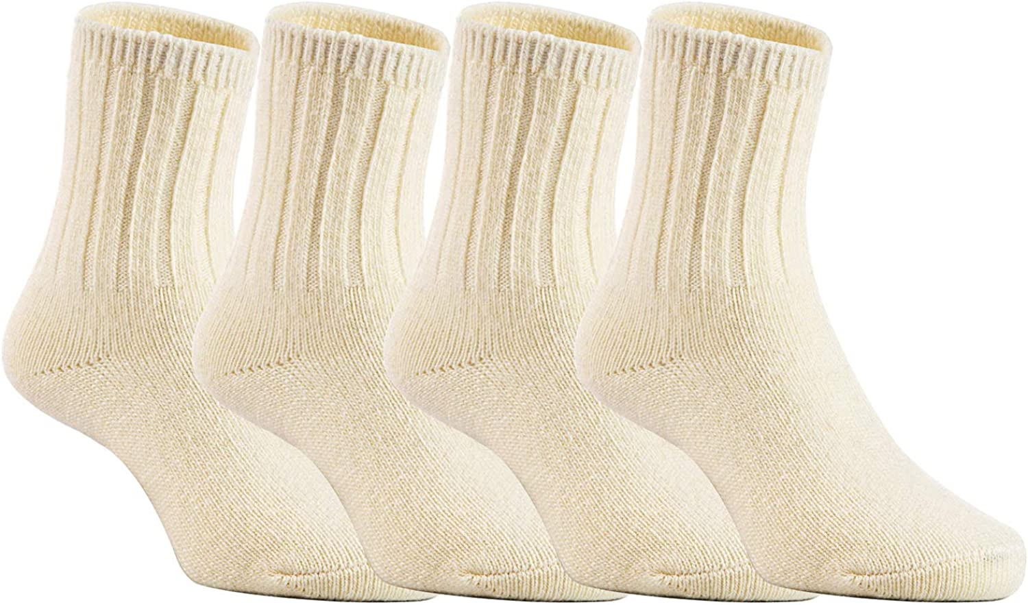 Stretchable Wool Crew Socks Size 0Y-6Y Durable 4 Pairs Childrens Comfy