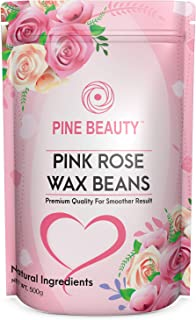 Wax Beans Hard Wax Beads Complete Kit for Painless Hair Removal 10 Extra Waxing Spatula Applicator for Bikini Area, Face, Legs, Eyebrow, Body Pearl Wax Warmer and Brazilian Wax (PINK ROSE 1LB)