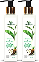 INWOOD ORGANICS Coconut & Green Tea Refreshing Body Lotion For Skin Whitening & Uv Protect - 200 Ml Pack Of 2 (Paraben Free), 200 ml (Pack of 2)