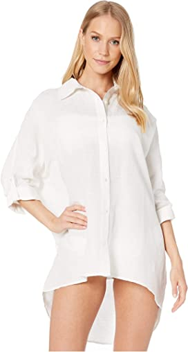 3fed73e302 Tommy Bahama Crinkle Boyfriend Shirt Cover-Up at Zappos.com