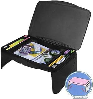 "Black Folding 17"" x 11"" Lap Desk with Storage - Durable Lightweight Portable Laptop Computer Children Adult Kids Lap Desks for Homework or Reading. Breakfast Tray Food Table"