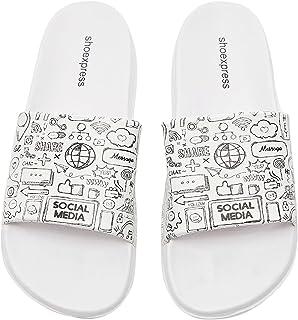 Shoexpress Mens Printed Open Toe Slide Slippers