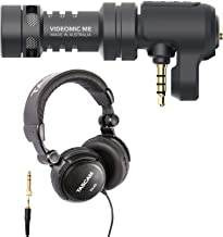 Rode Video MicMe Directional Smartphone Microphone with Tascam TH-03 Studio Headphones