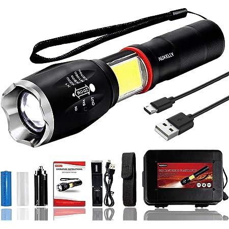 280 lm poche tactique Lampe de Poche Torche DEL Stylo Rechargeable USB Lumière HGUK