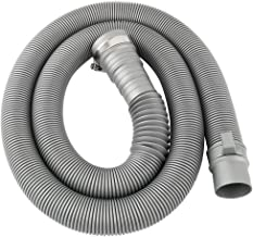 uxcell 洗濯機排水ホース 排水管 PVC 廃液パイプネクタ 延長ホース 洗濯機専用 交換用 通用 1.44m グレー