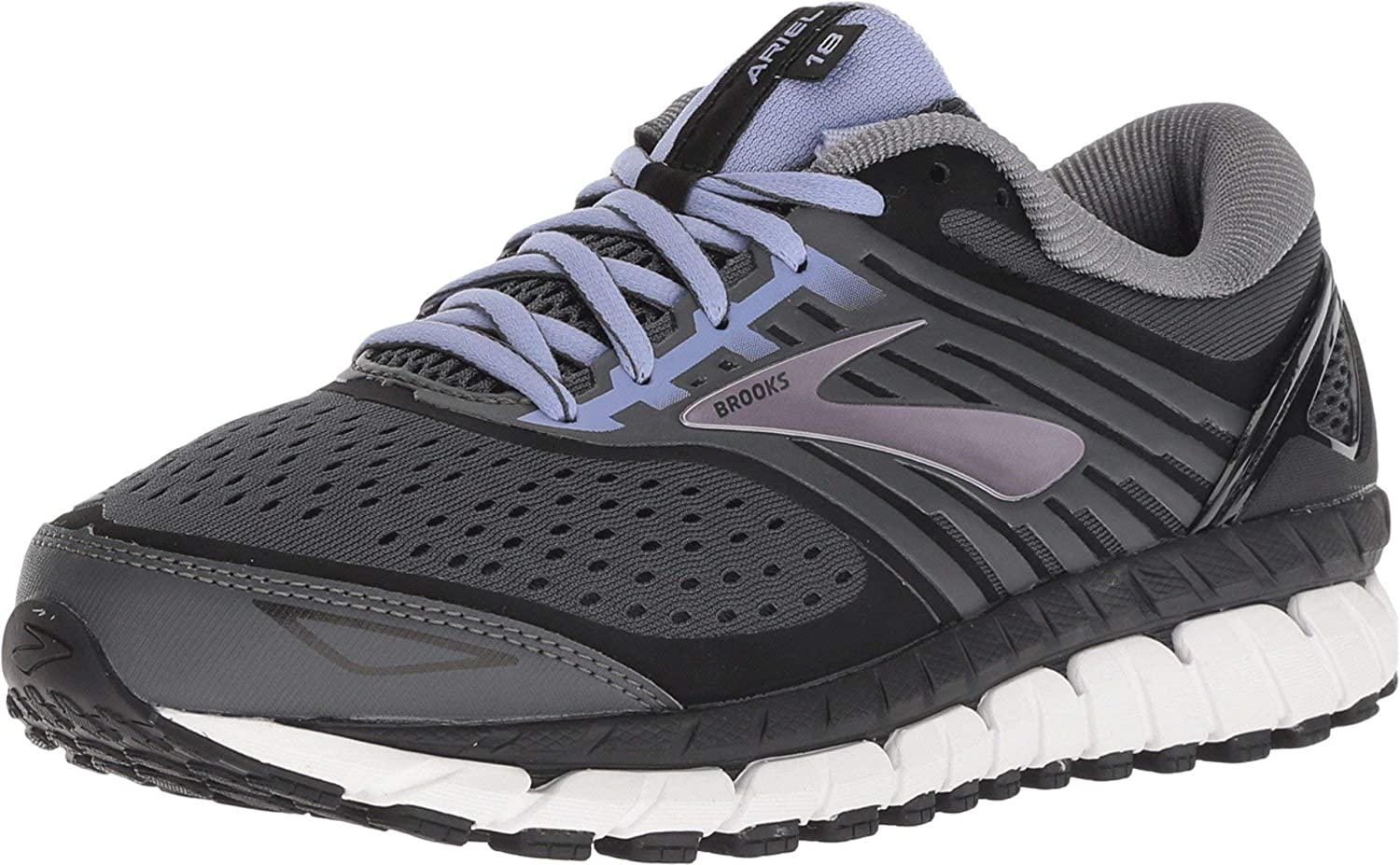 Brooks Womens Ariel /'18 Running Shoes Trainers Sneakers Grey Pink Sports