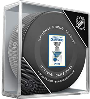 St. Louis Blues October 2, 2019 Stanley Cup Championship Banner Raising Official Game Puck - Fanatics Authentic Certified